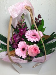 Seasonal Pink posy bag