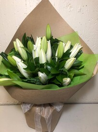 Scented White Lily Bouquet